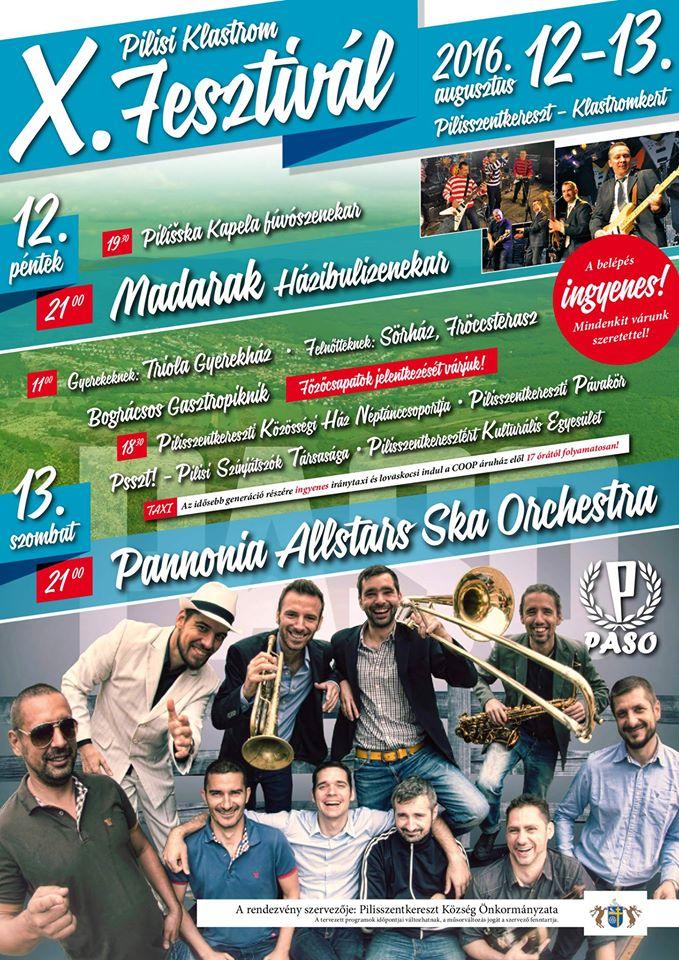 X. Pilisi Klastrom Fesztivál