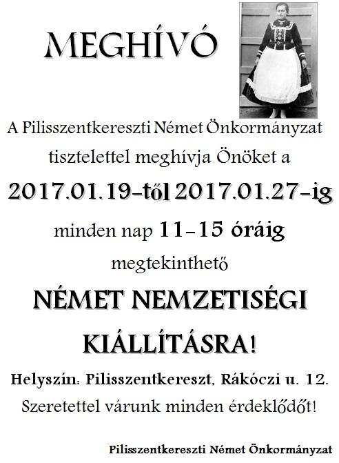 PNÖ kiállítás meghívó