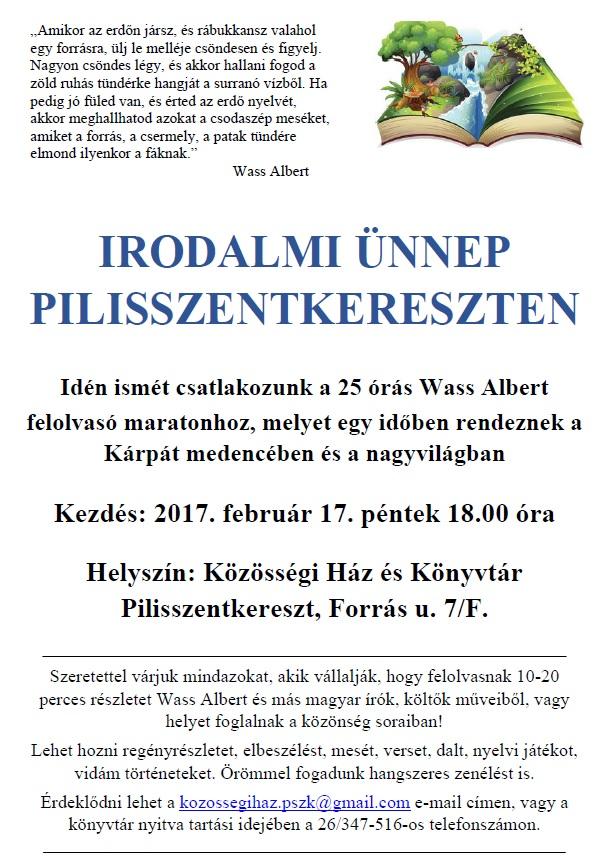 irodalmi ünnep-felolvasó maraton