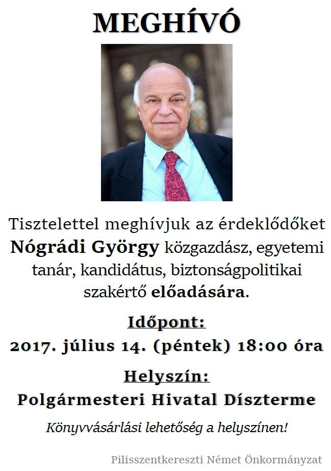 Nógrádi György előadás