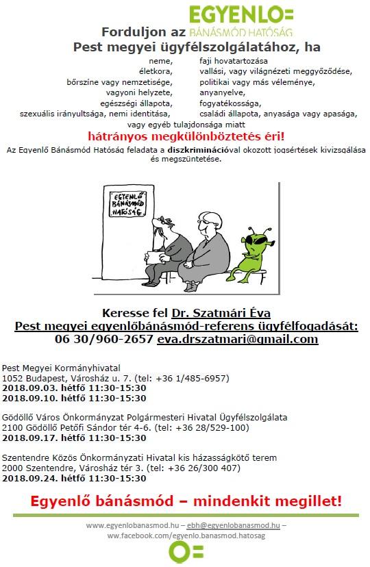 Egyenlő Bánásmód Hatóság ügyfélszolg.09