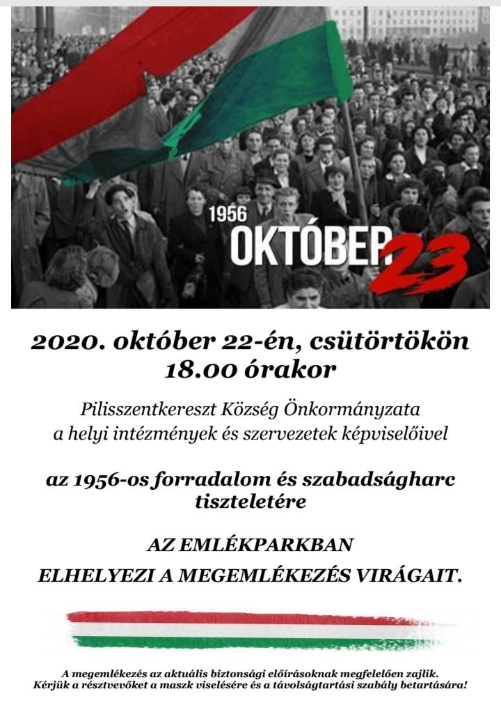 Okt.23 megemlekezes plakát